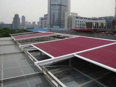 厂区厂房顶部安装天幕...