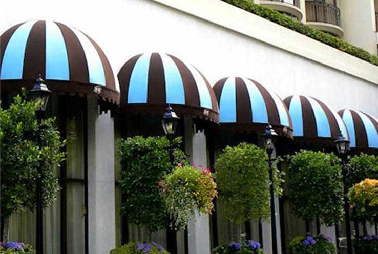 济南市区特色餐厅安装法式篷
